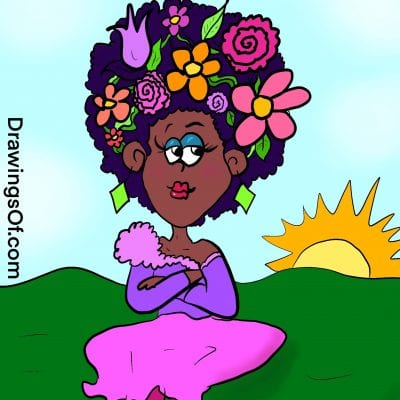 Flower crown cartoon