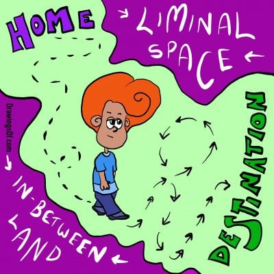Liminal Space cartoon lesson