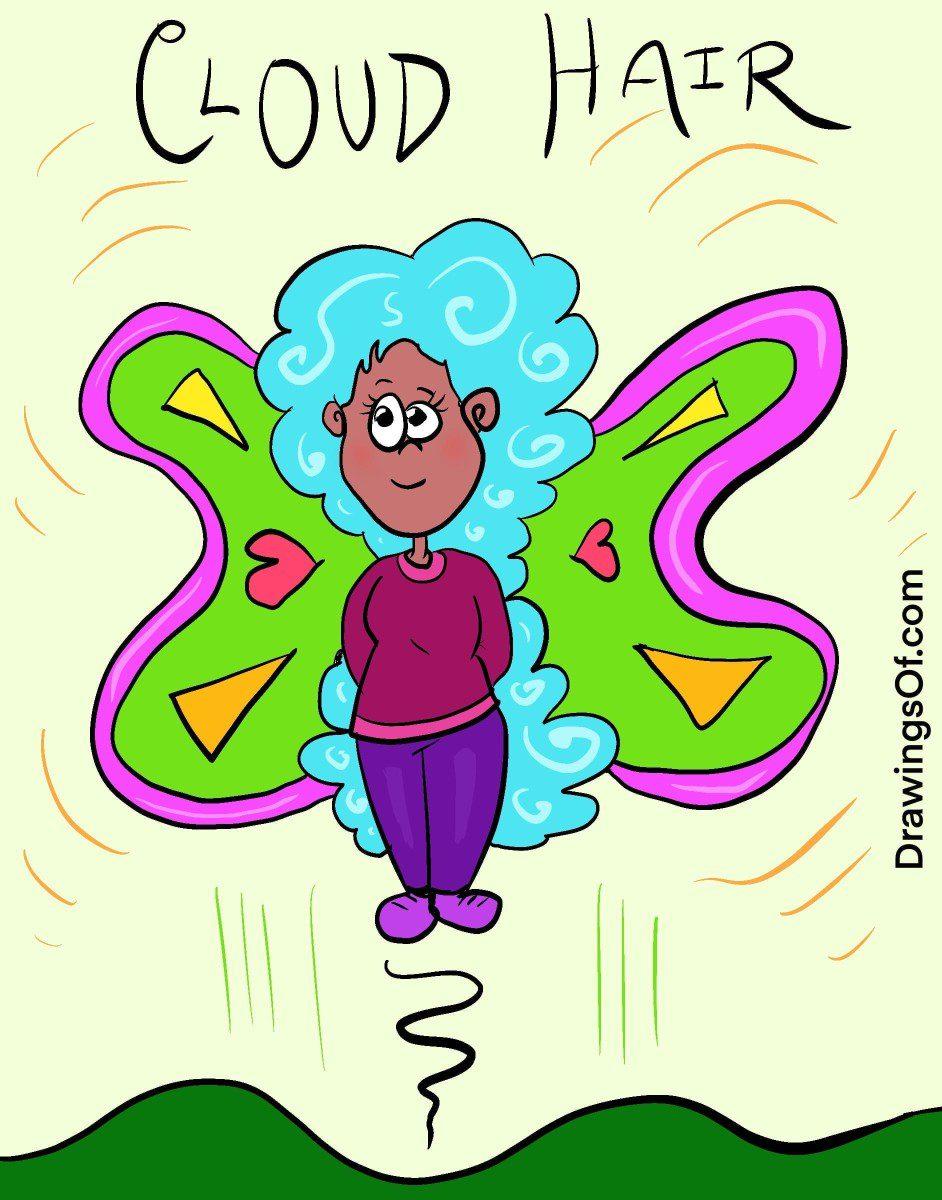 Cloud hair fairy cartoon