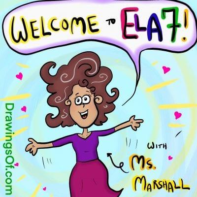 Happy teacher welcome to ELA