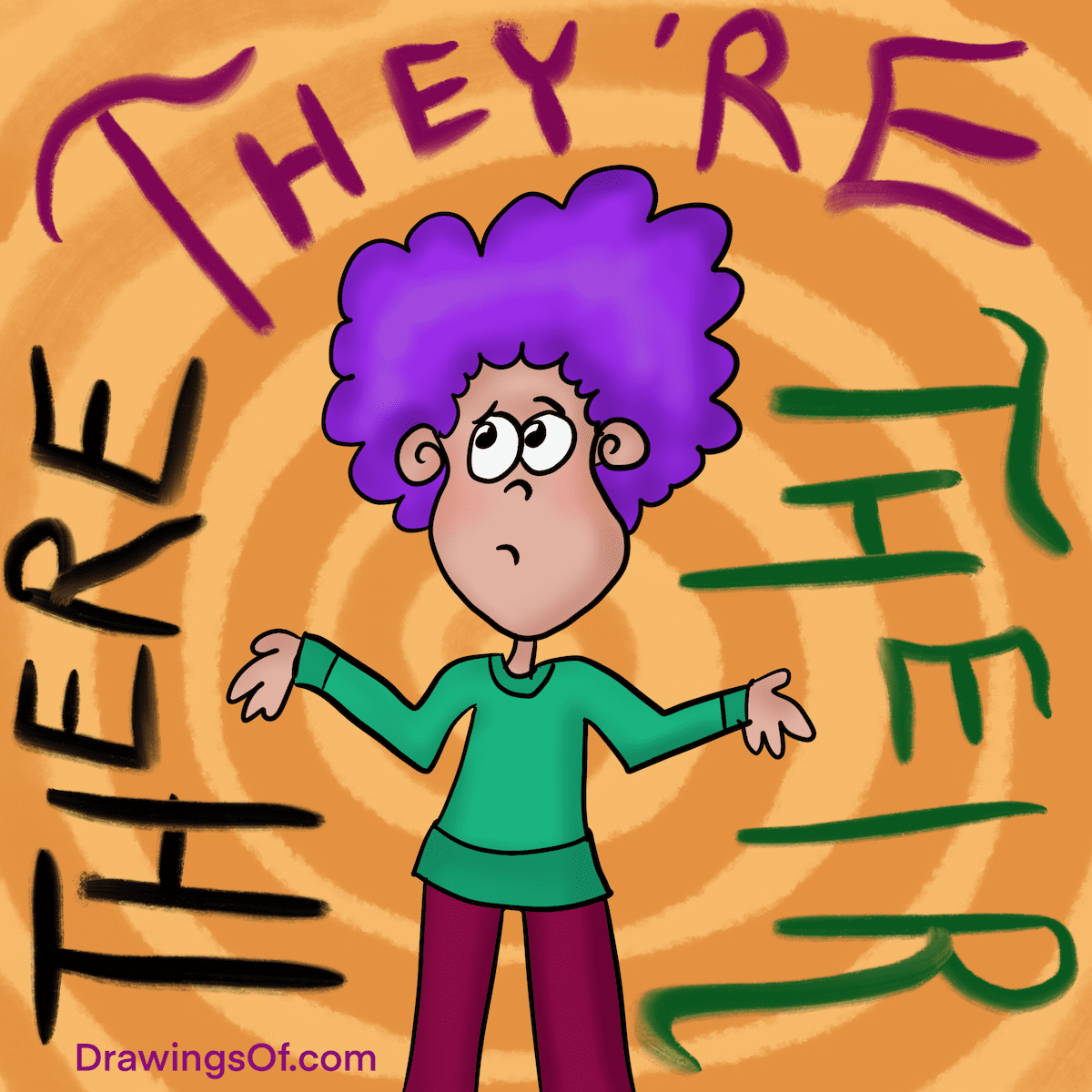 There they're or their