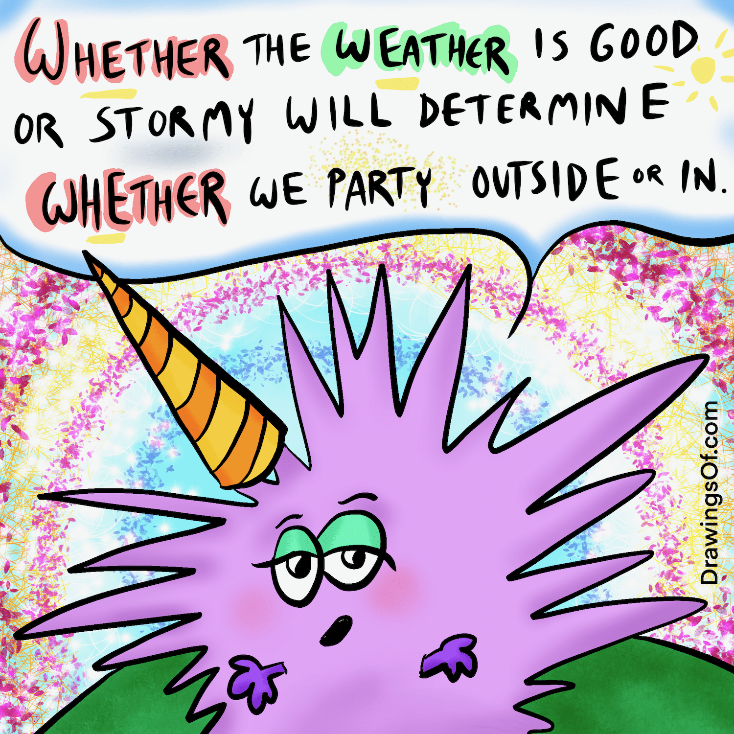 Whether or weather