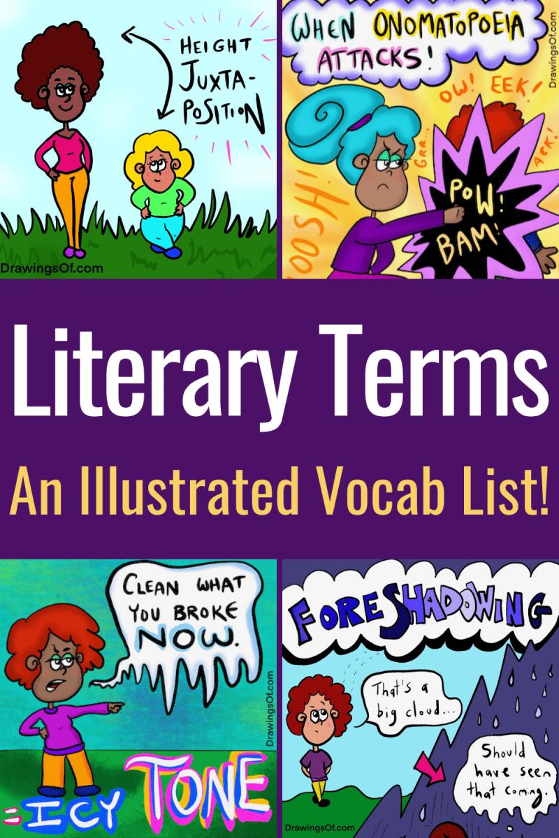 Literary terms vocabulary list