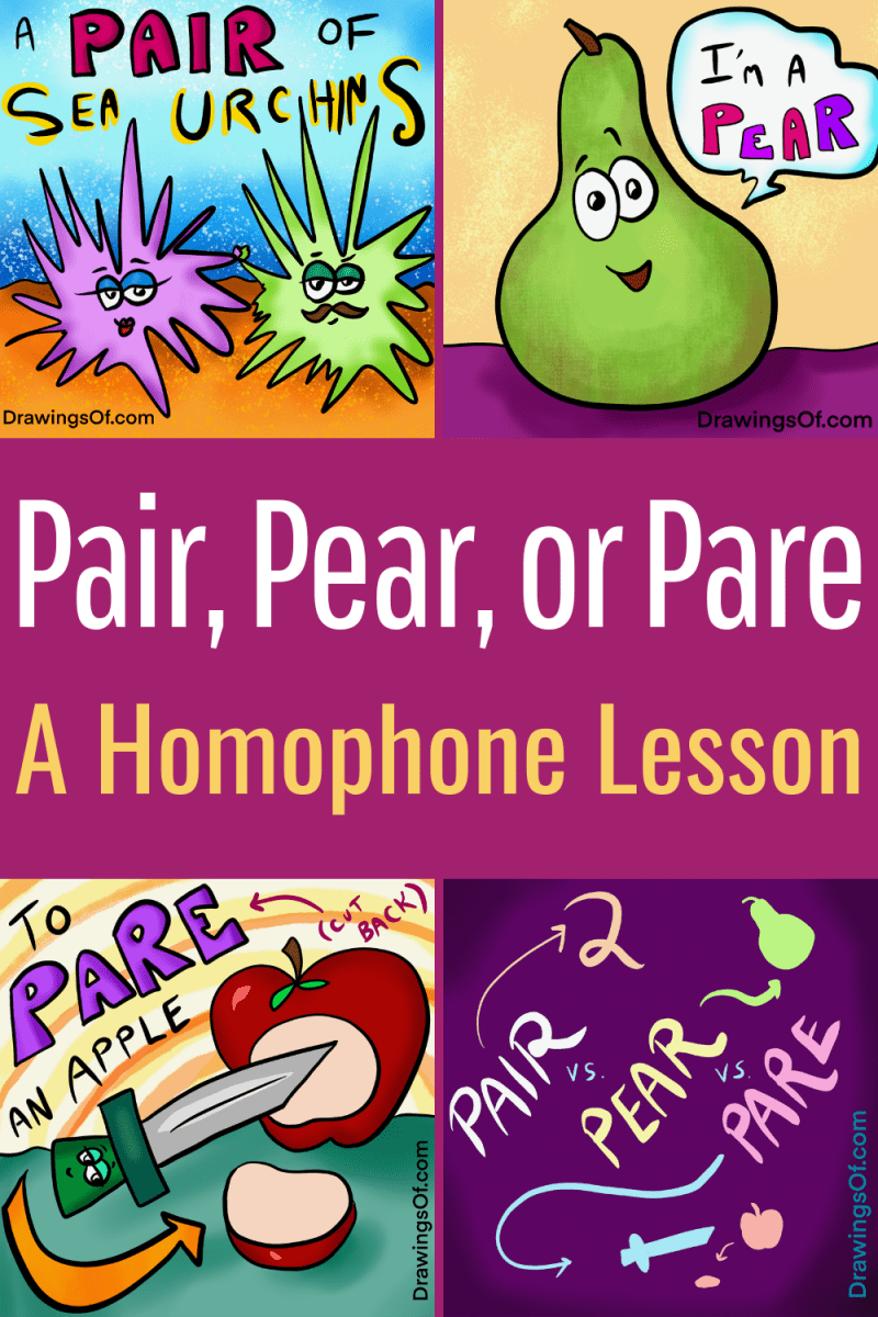 Pair pear or pare